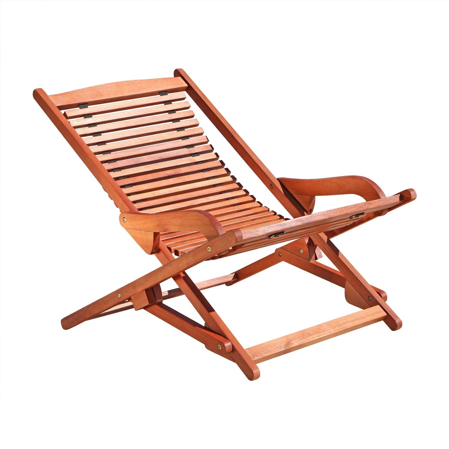 Amazon VIFAH V157 Outdoor Wood Folding Lounge Natural Wood