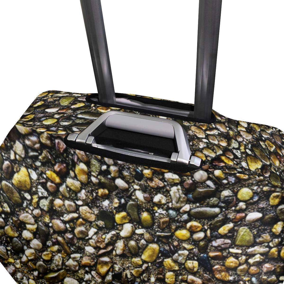 FANTAZIO Sea Beach Stones Suitcase Protective Cover Luggage Cover