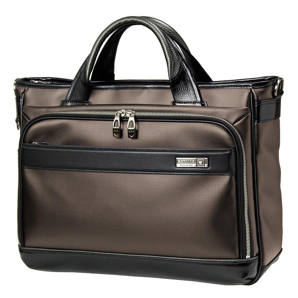 [バーマス]BERMAS EXCEED ビジネスバッグ トートバッグ キャリーオン機能 豊岡鞄 日本製 ショルダーバッグ メンズ 60037  ブラウン B01JG7XUS6