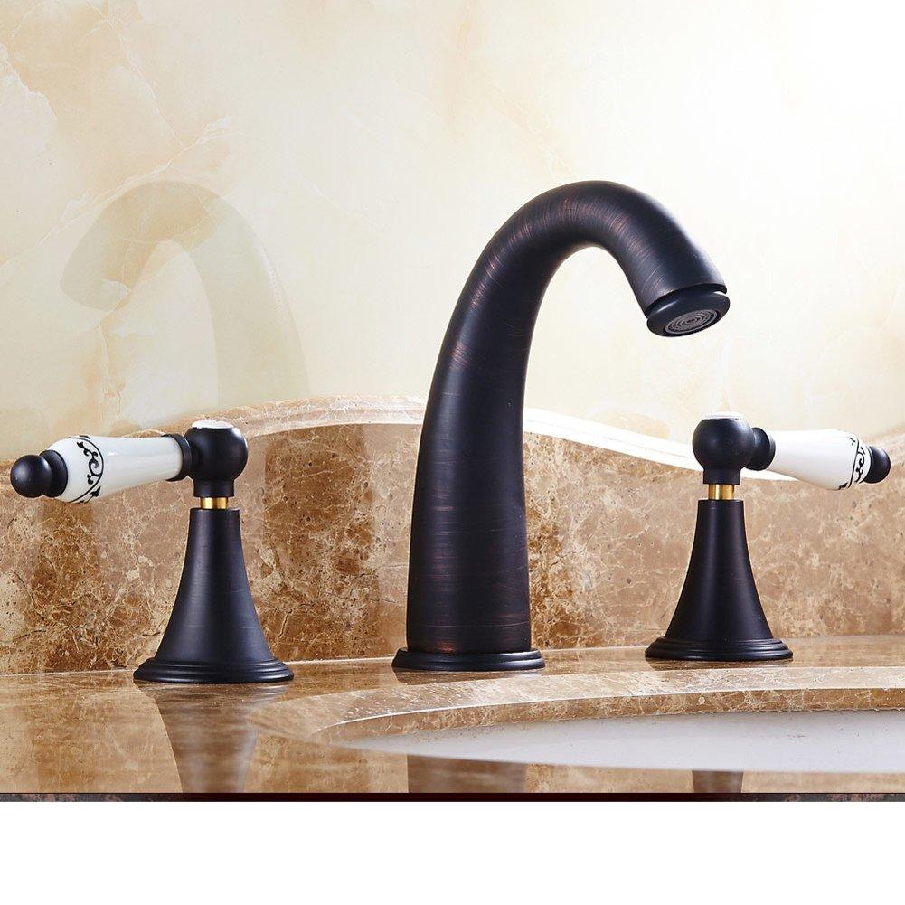 Suministros de limpieza y saneamiento Grifos de lavabo MulFaucet rubinetto miscelatore Faucet Lavabo de latón de una cara orificio único tocador en el escenario