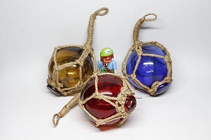 Bitacora boya cristal 3 unidades marinero nautica decoracion red pesca