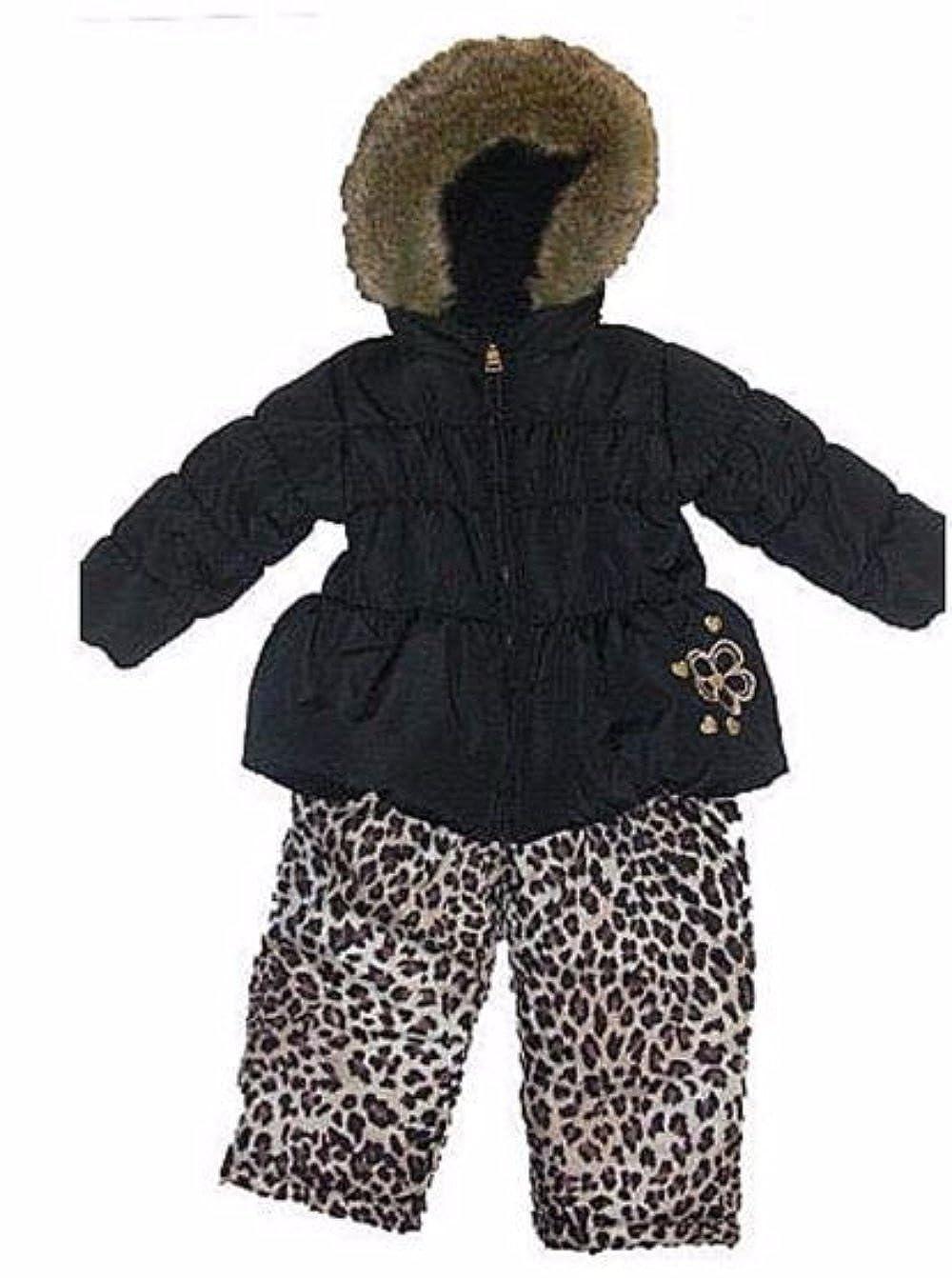 Pacific Trail Girls Fur-Trim Coat /& Snow Pants Snowsuit
