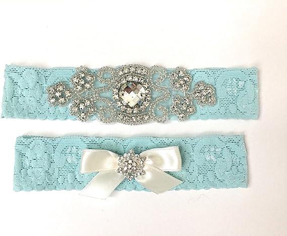 bride Aqua bow. Stretch lace toss garter bridal toss garter White lace garter