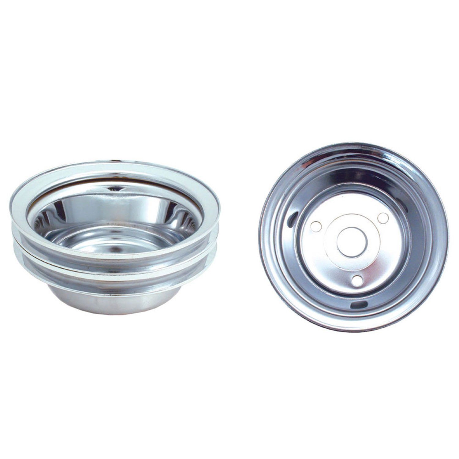 Spectre Performance 4438 Chrome Plated Crankshaft Pulley for Small Block Chevy