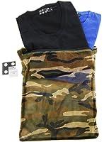 (アーケード) ARCADE 4type メンズ 2枚組 3点セット パックT カモメッシュパック付き フライス Vネック 半袖 Tシャツ 無地