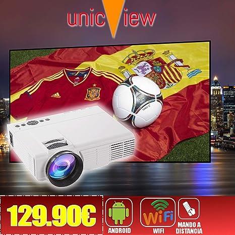 proyector Unicview SG150 Blanco con Android, WiFi, USB, HDMI, VGA ...