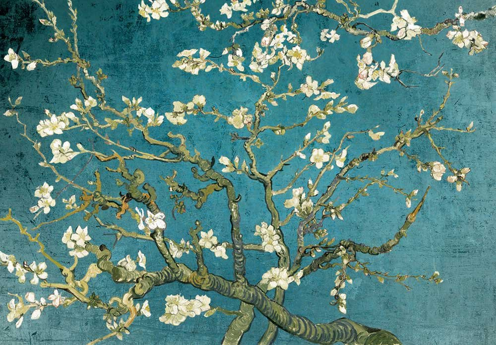 wall26 - Vibrant Teal Gradient Almond Blossom by Vincent Van Gogh - Wall Mural, Removable Sticker, Home Decor - 100x144 inches by wall26 (Image #3)
