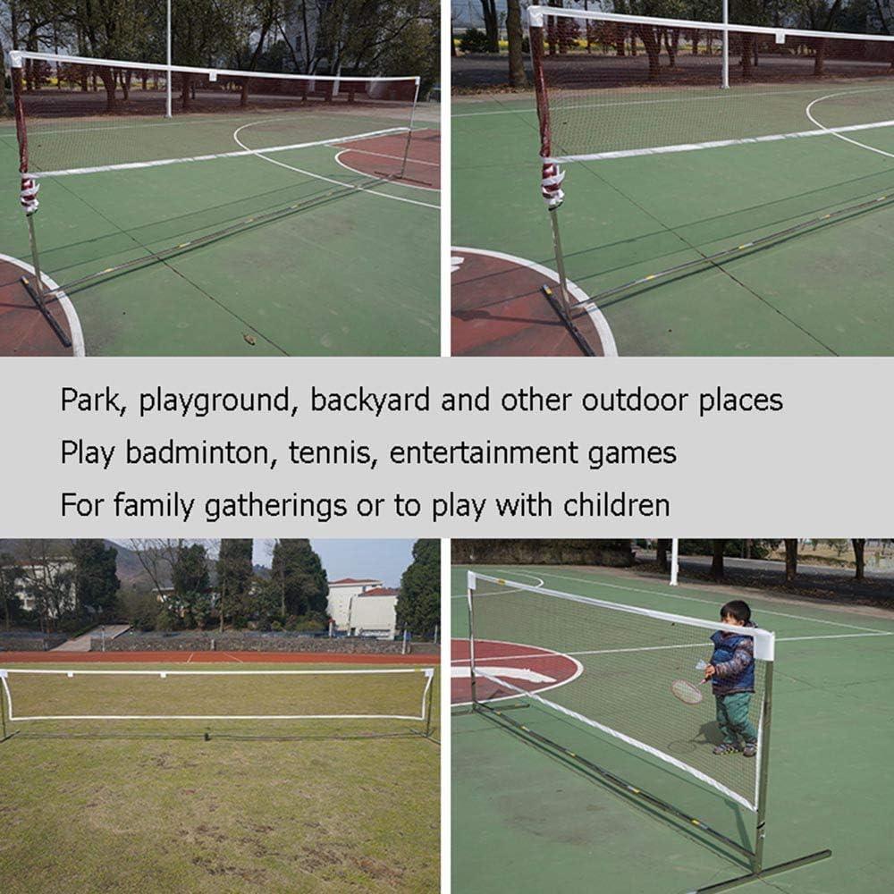 Fun Family Entertainment Samule Badminton Volleyball Tennisnetz 3,1M // 4,1M H/öhenverstellbar Faltbar /& Tragbar