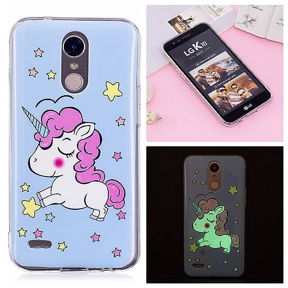 Amazon.com: LG K10 2017 Luminous Case, Yunbaozi TPU Rubber ...