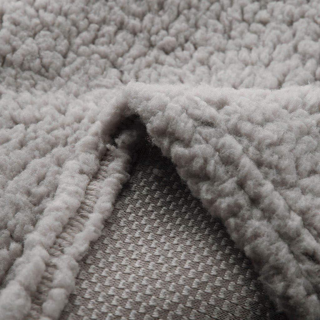 Longra Teddy-Fleece Pullover Damen Langarm Casual V-Ausschnitt Lammfelljacke Sweatjacke mit Rei/ßverschluss Sweatshirt Pullover Damen Warm Winterpullover Wollpullover Outerwear