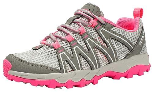Insun Mujer Zapatillas de Senderismo Zapatos de Trekking Resbaladizo Caminar Transpirable Zapatilla de Escalada Gris 34