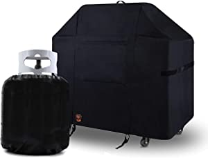 Yukon Glory 7131 Premium Grill Cover for Weber Jenesis II 4 Burner Gas Grills, Year Round All Season Protection, Includes Bonus Propane Tank Protective Cover