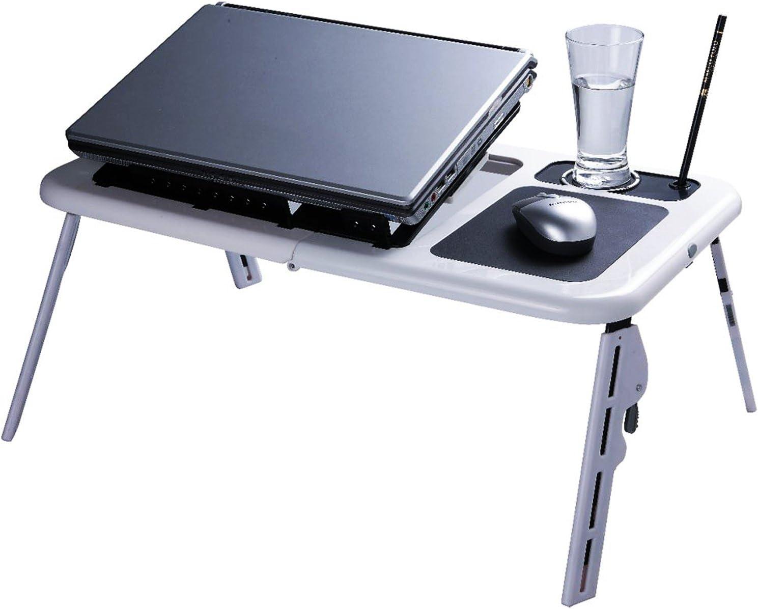 Mesa pequeña de cama para notebook y portátil: Amazon.es: Hogar