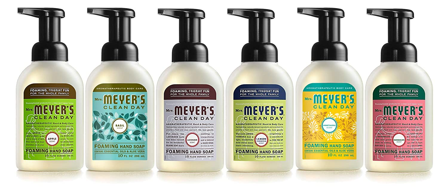 Mrs. Meyers Mrs. Meyer's Clean Day 6-piece Foaming Hand Soap Variety Pack (10 Oz Each), 5 Pound
