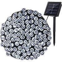 Qedertek Luces de Navidad Exterior, Guirnalda Luces Solar 22M 200 LED, Cadena Luz Solar Resistente Al Agua, Luces Blanco Decoración Iluminación para Arbol de Navidad, Jardín, Patio