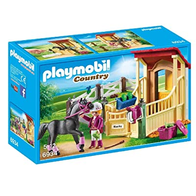 PLAYMOBIL Horse Stable with Araber Building Set: Toys & Games