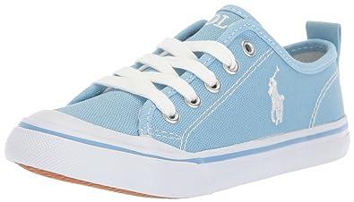 30b4eefbcf03 Polo Ralph Lauren Kids Karlen Sneaker Elite Blue 1 Medium US Little Kid