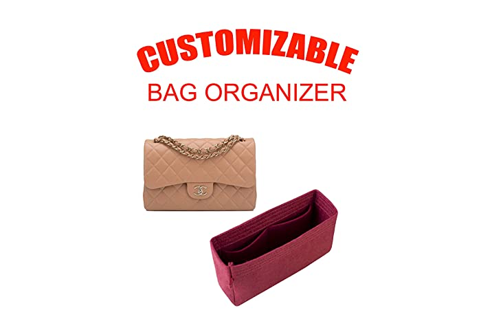 1c9a0a4ccdd9 Amazon.com  For Chanel Single Flap Jumbo bag insert organizer purse insert