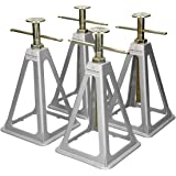 ECD Germany 4x Axle Stands Stabilising Jacks Static SupportAluminium Leveller Floor Ratchet 4000kg Additional Security