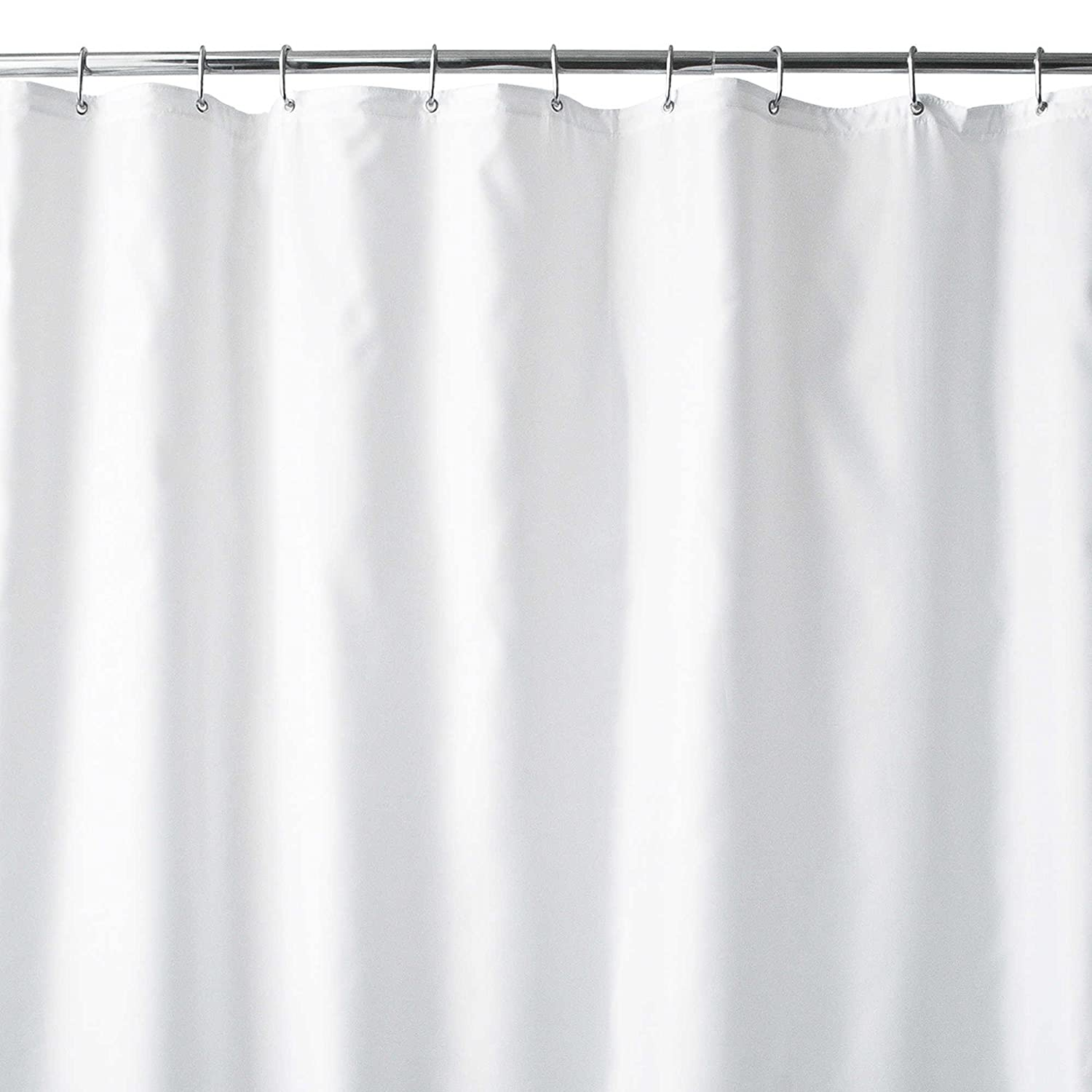 Amazon Wamsutta 96 Inch X 72 Wide Fabric Shower Curtain Liner With Suction Cups In White Home Kitchen