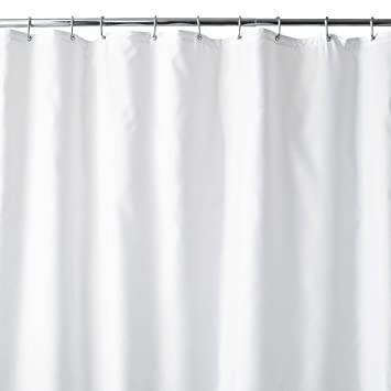 Wamsutta 96 Inch X 72 Wide Fabric Shower Curtain Liner With Suction Cups