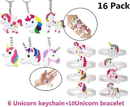 Unicorn Silicone Bracelets 12 Pack Party Favors Kids Sizes