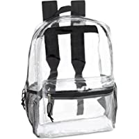 Clear Backpack With Reinforced Straps & Front Accessory Pocket - Perfect for School, Security, & Sporting Events