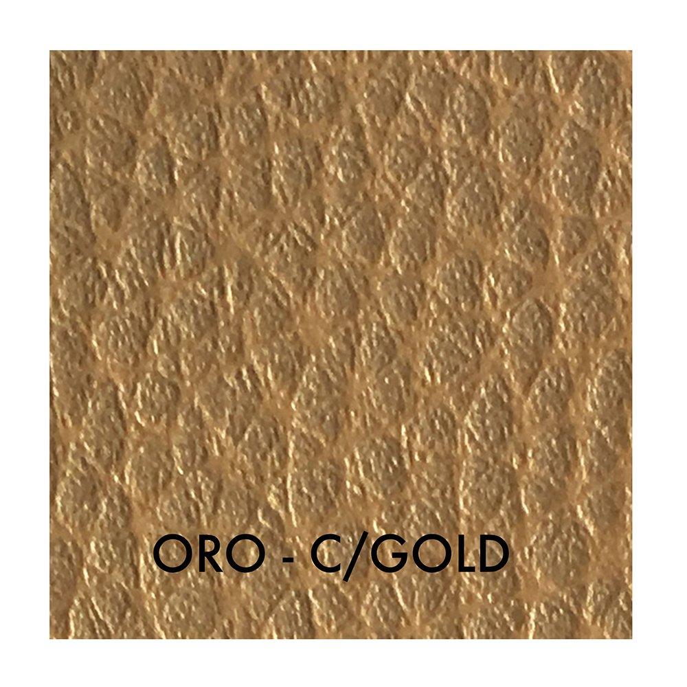 Tessuto Ecopelle morbida finta pelle a METRAGGIO a partire da 50 CM (Lunghezza) x 140 CM (Larghezza FISSA) - per arredo DIVANI, SEDIE (1/2 Metro, Bronzo) Panini Tessuti