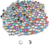 Mix-s 200pcs 8mm Rhinestone Studs Round Rivets Punk DIY for Clothing Shoes Bags Belt Spikes GZ080-8