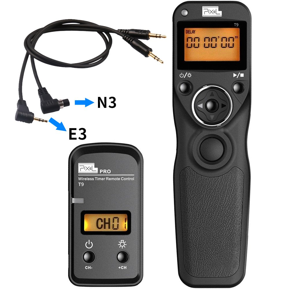 Pixel T9-E3/N3 LCD 2.4GHz Wired or Wireless Timer Remote Control for Canon EOS 10D, 20D, 30D, 40D, 50D,70D 60D 700D Pentax K5 by fotowelt