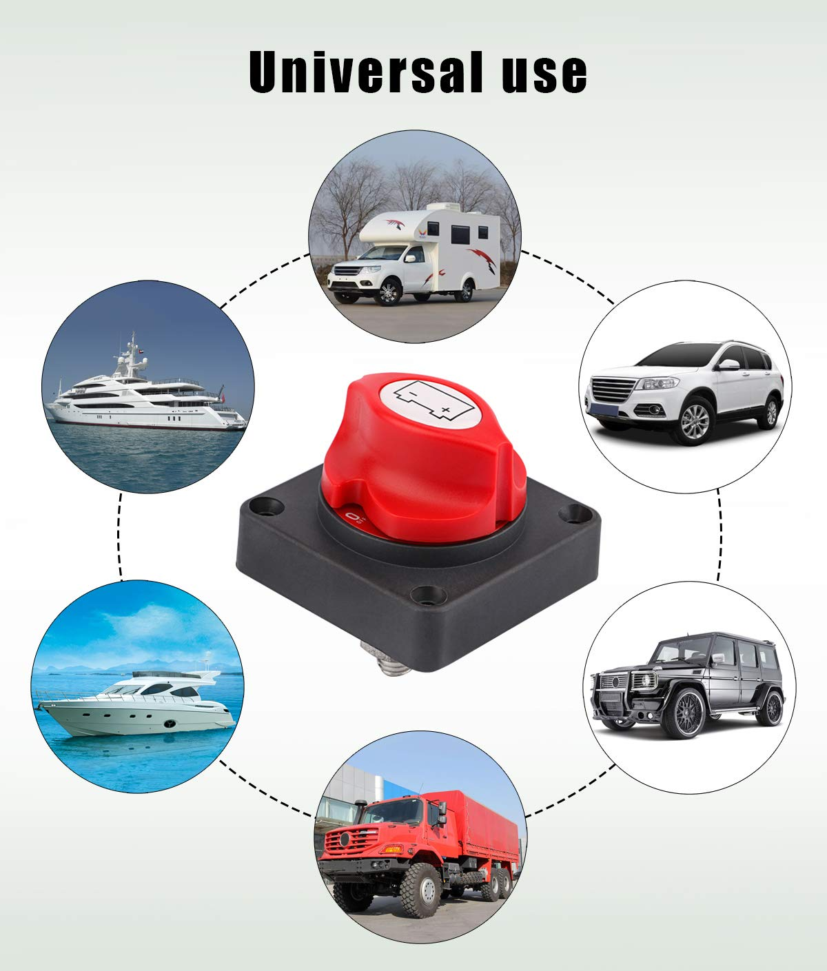 Sdootauto Waterproof Heavy Duty Battery Cutoff Switch Battery Disconnect Power Shut Off Switch for RV Marine Boat Car Vehicle 12V//24V Battery Isolator Master Switch Battery Disconnect Switch