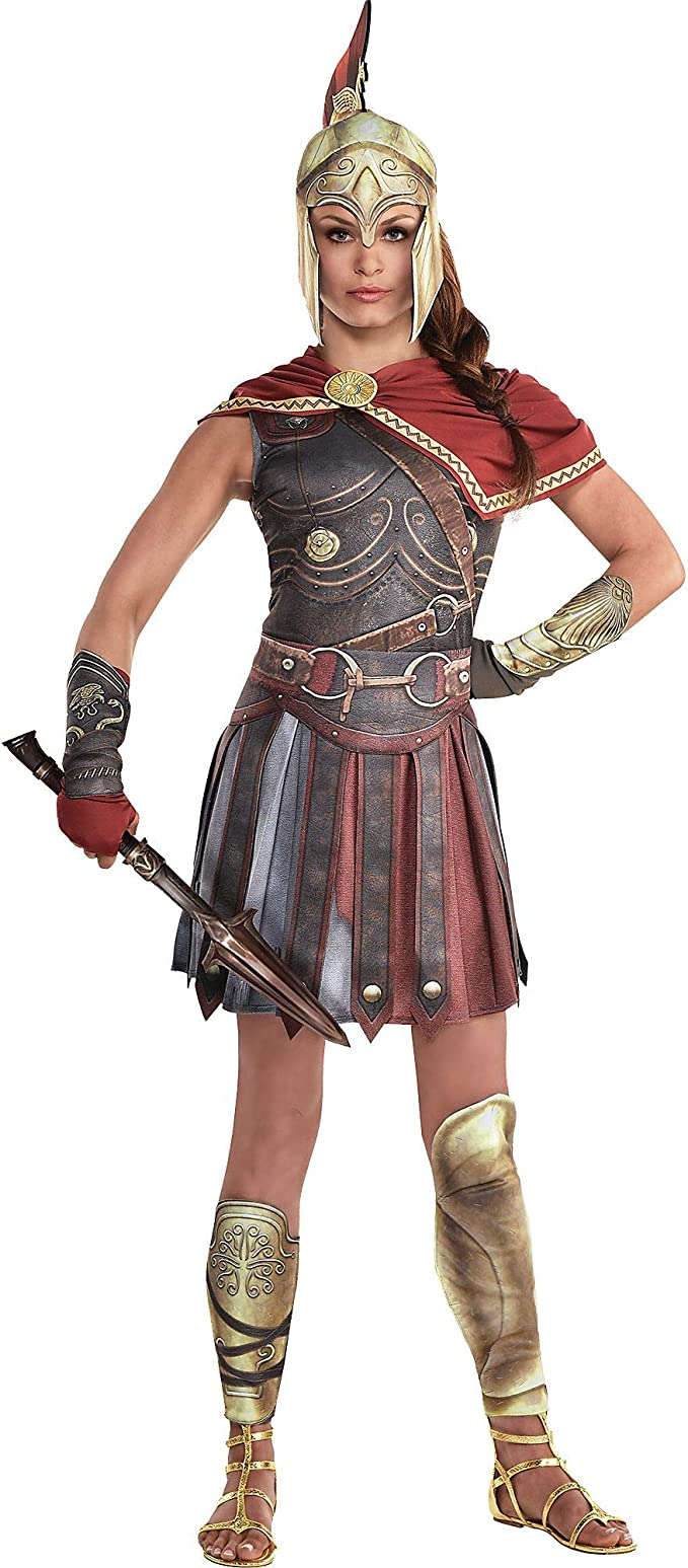 Amazon Com Party City Kassandra Halloween Costume For Women Assassin S Creed Medium With Accessories Clothing