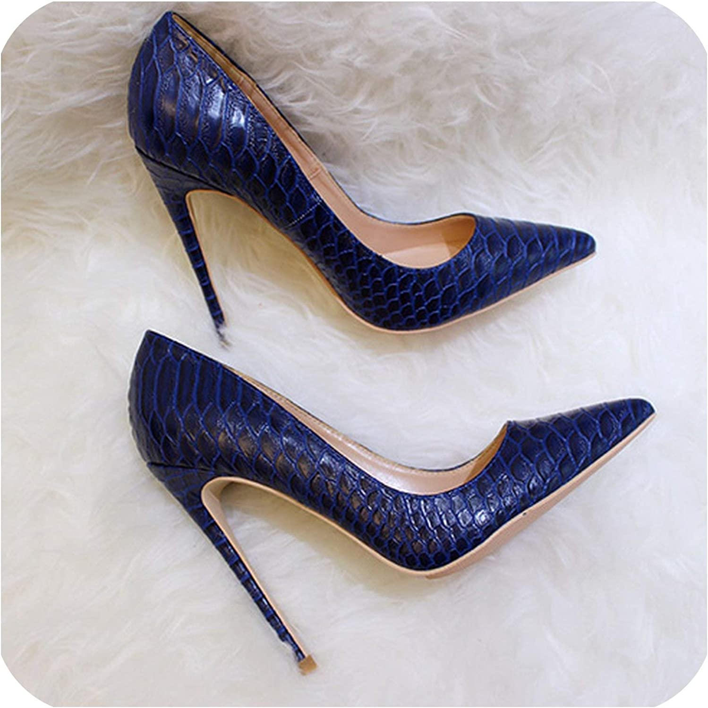 Heel Shoes Navy Blue Fashion Ladies