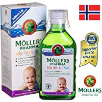 Moller's Norwegian Cod-Liver Oil My First Fish Oil for Pregnant Women and Babies 250 milliliters Omega 3
