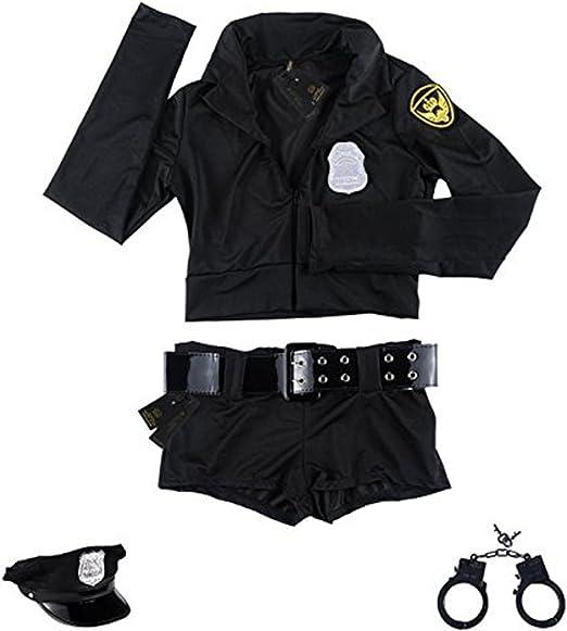Amazon.com: Forny Disfraz de policía para mujer, disfraz de ...