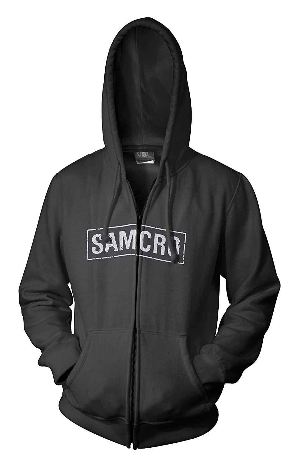 Sons Of Anarchy Samcro Logo Mens Black Zip-Up Hoodie Sweatshirt Toy Zany