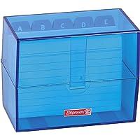 Brunnen 102057033 kartoteks kutusu, 12 x 9, 5 x 6, 5 cm (A7 dizin kartları için), polistrol, azur, renk kodu