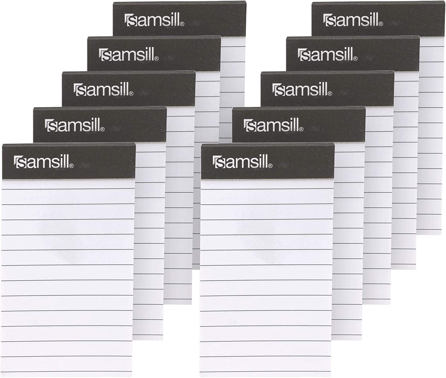 """Samsill Mini Pocket Notebook Refills/Memo Book Refills / 10 Pack 2 7/16"""" x 4 ¼"""" Sized Writing Pad with 40 Lined Paper Per Note Pad"""