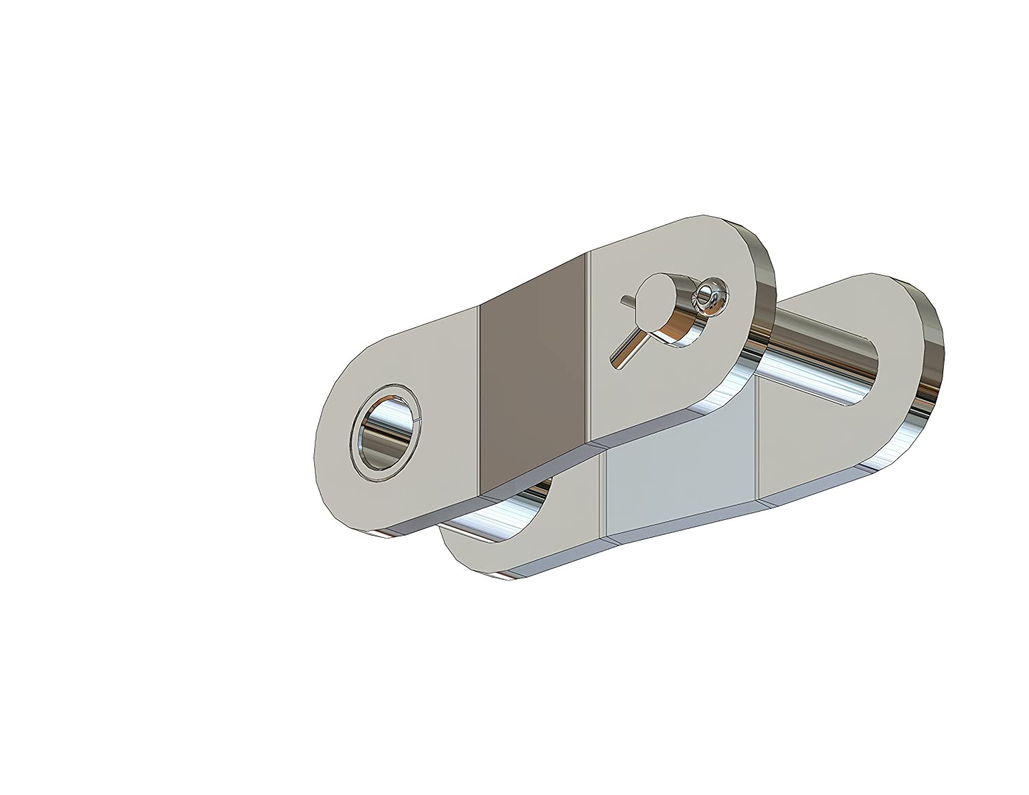 Double Pitch Chain Senqcia Inspire Series C2060SSOL 304 Stainless Steel Offset Link Pack of 5 2.17 Length 1-1//2 Pitch