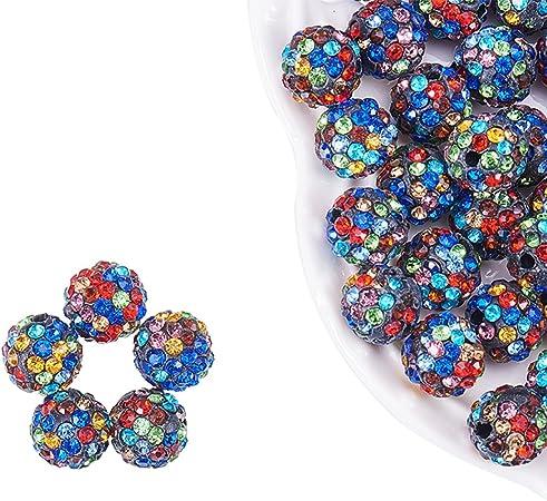 10 mm 30 perles de verre dans par colorée Blanc