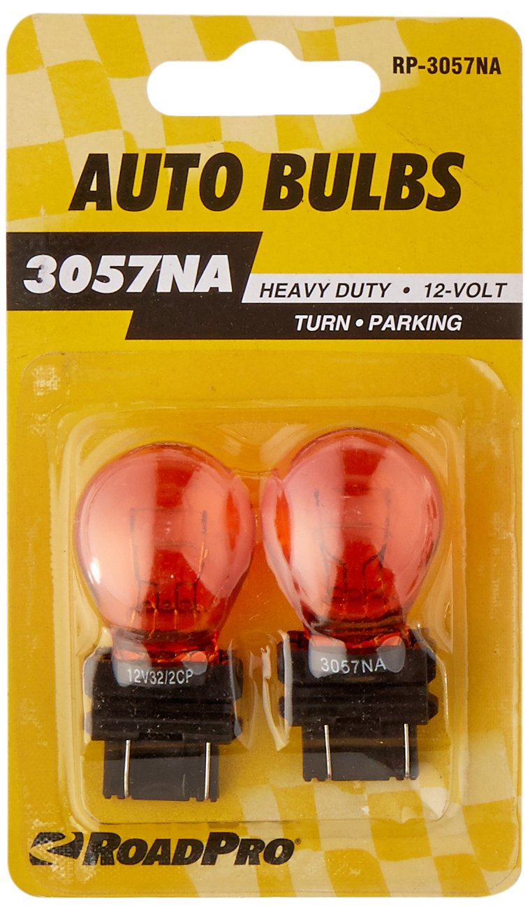 Pack of 2 RoadPro RP-3057NA Amber #3057 Heavy Duty Replacement Bulb,