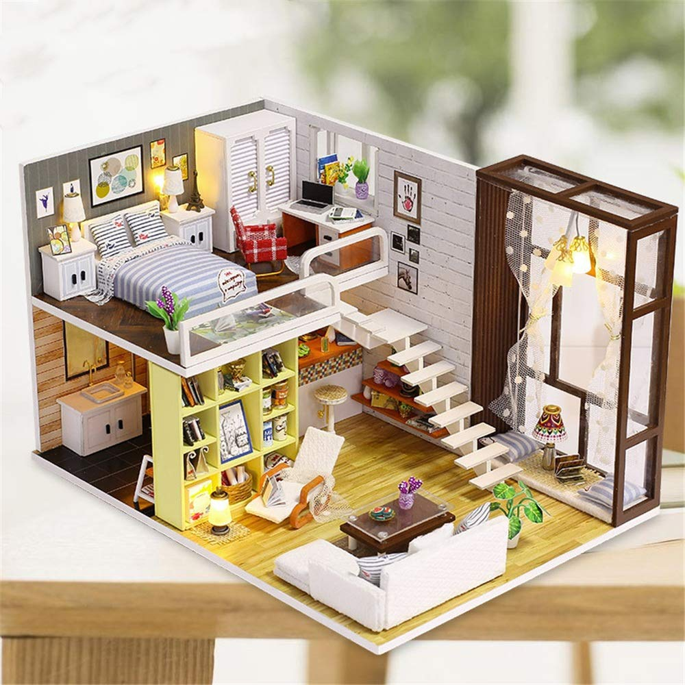 Amazon.com: LIUFENGLONG Kid\'s DIY Toy DIY Apartment Model ...