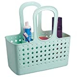InterDesign Orbz - Shower Tote Holder and Organizer for Shampoo, Cosmetics, Beauty Products - Mint - Small/Divided: 11.5 x 6 x 12 inches