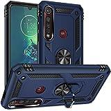 Rebex Compatible with Moto G8 Play Case,Moto G8 Plus Case,Motorola One Macro Case Cover,Tough Heavy Protective 360 Metal Rota