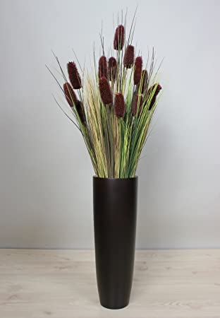 Bodenvase Groß vase mangoholz schwarz groß 50 cm mangowood holzvase blumenvase