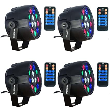 Stage LightsSAHAUHY Par Lights 12 Leds Stage Lighting with Remote Control Sound Activated(  sc 1 st  Amazon.com & Amazon.com: Stage LightsSAHAUHY Par Lights 12 Leds Stage Lighting ...