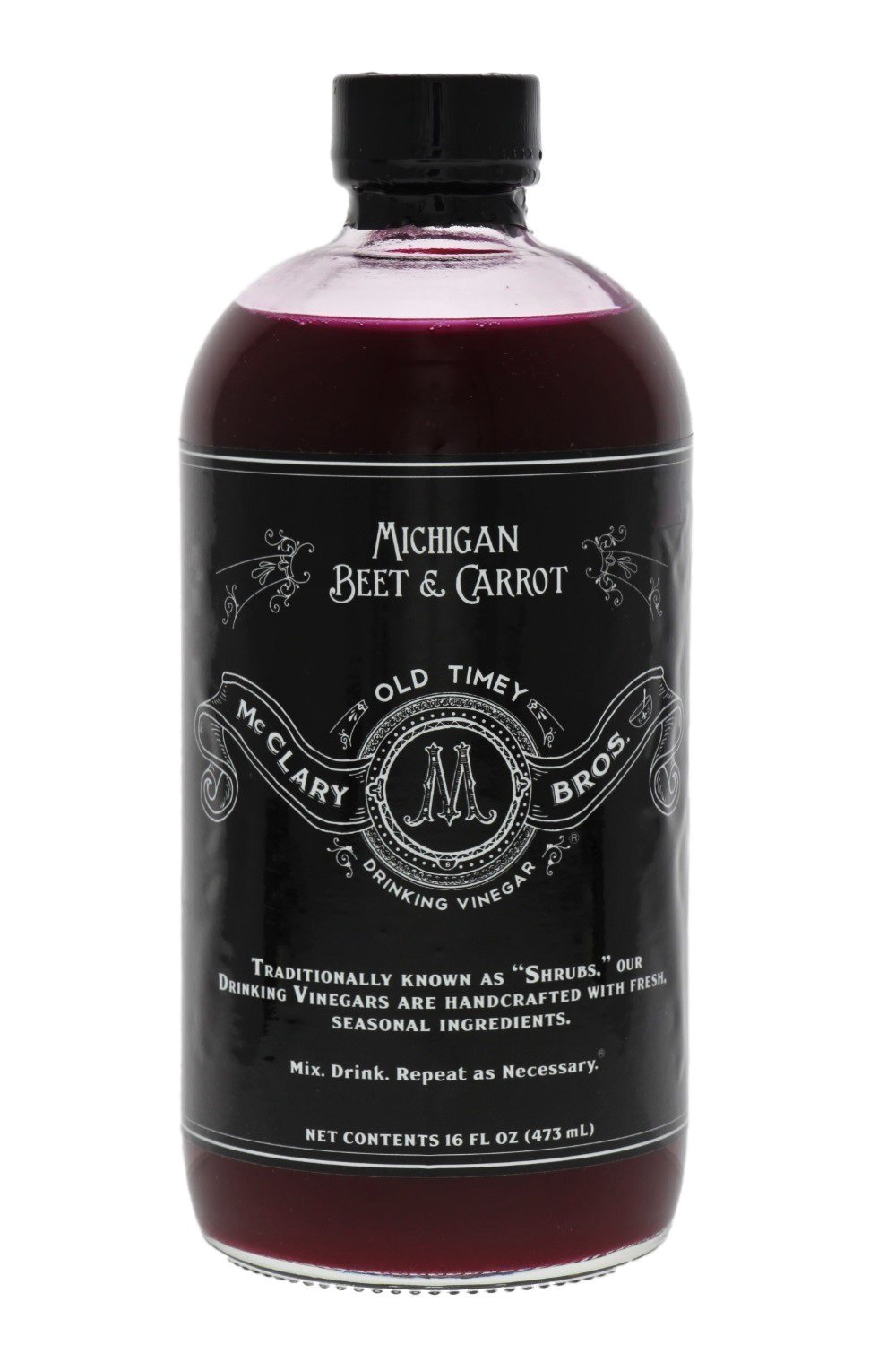 McClary Bros- Michigan Beet and Carrot- Handcrafted Drinking Vinegars- For Cooking, Craft Sodas and Shrub Cocktails