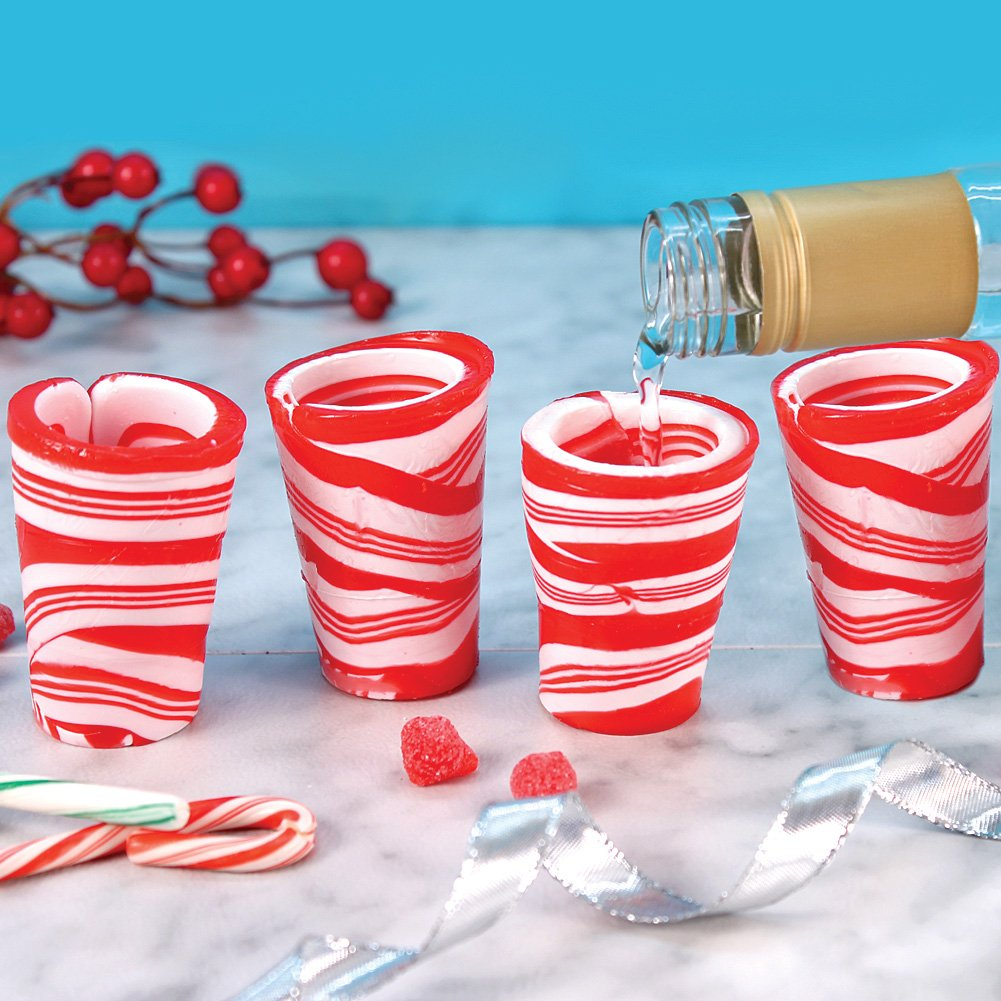 Amazon.com : Edible Candy Shot Glasses Set of 12 Peppermint ...