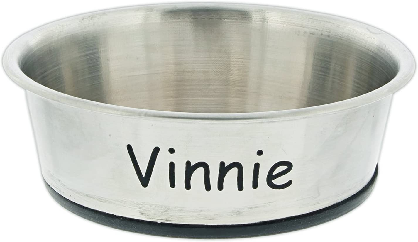 Joy of Giving Personalized Stainless Steel Bowl with Rubber Base