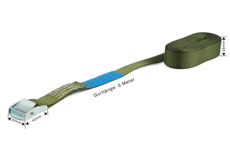 5 m e 6 m in nero blu verde oliva 1 pezzo da 3 m Verde giallo fluo rosso 4 m 6 cinghie di fissaggio resistenti fino a 250 kg; larghezza 25 mm